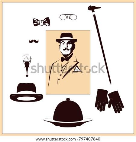detective's set vector