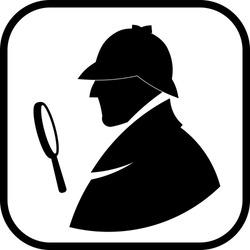Detective Sherlock Holmes vector profile icon