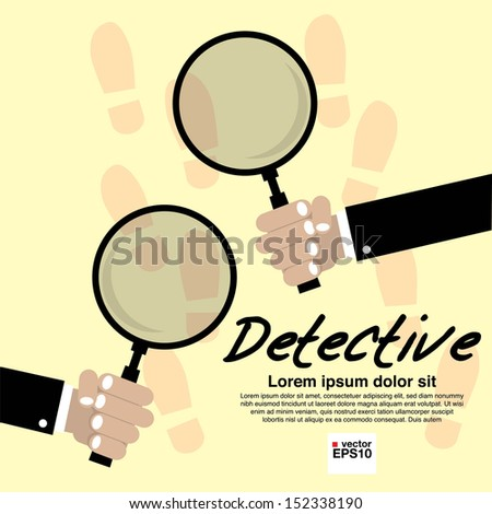 Detective Vector Illustration Concept.EPS10