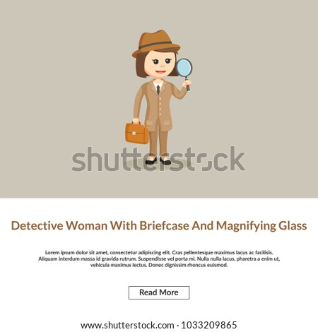 detective woman with briefcase