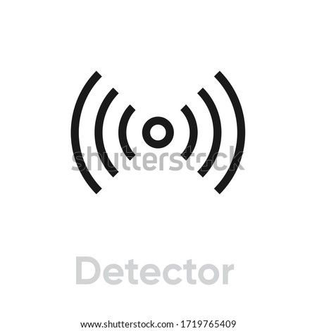 Detector icon. Editable Vector Outline. Thin line black detector sign isolated on white background. Single Pictogram. Stockfoto ©