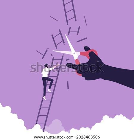 determined businessman climbing