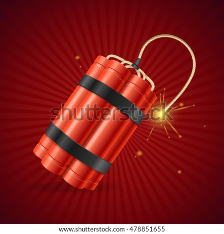 detonate dynamite bomb on a red