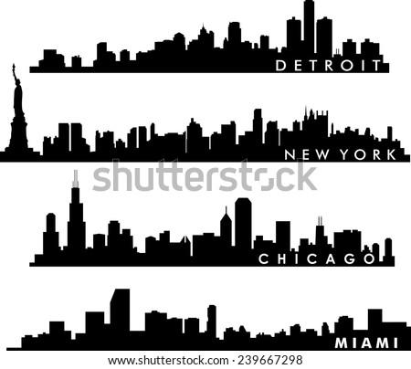 detroit  chicago  new york