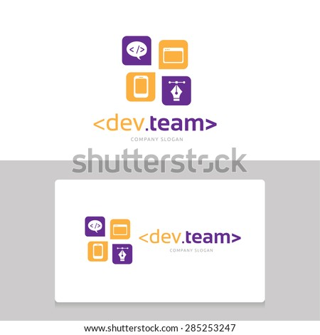 dev team logo template the logo