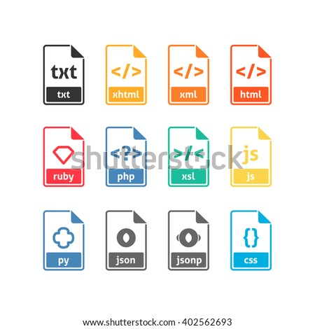 Developer file icons