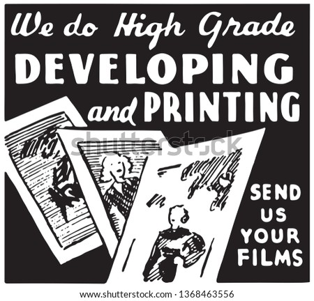 Developing And Printing - Retro Ad Art Banner