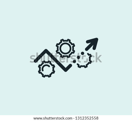 Development plan icon line isolated on clean background. Development plan icon concept drawing icon line in modern style. Vector illustration for your web mobile logo app UI design. Foto d'archivio ©