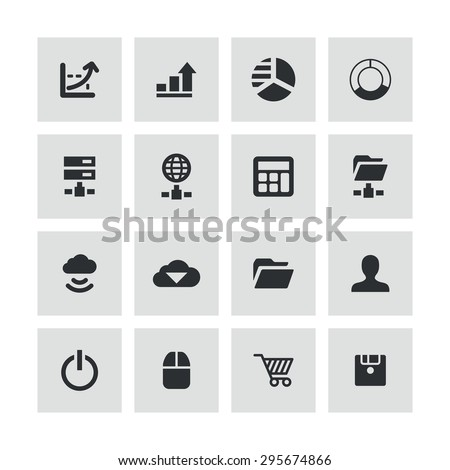 development, soft icons universal set for web and mobile #295674866