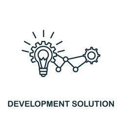 Development Solution icon from global business collection. Simple line Development Solution icon for templates, web design and infographics