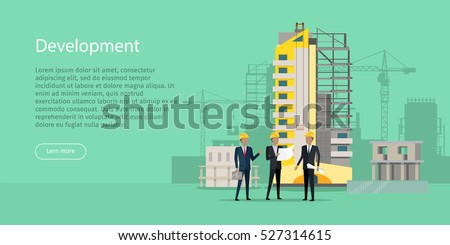 development three businessmen