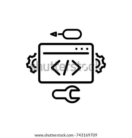Development vector icon
