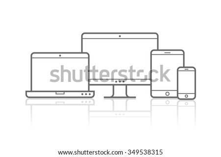 device icons vector...