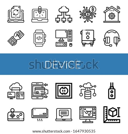 device simple icons set