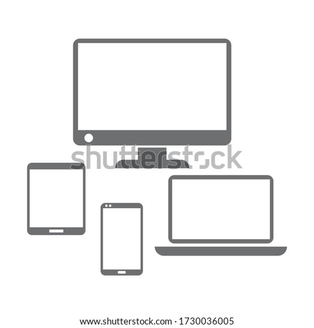 Devices icon design isolated on white background