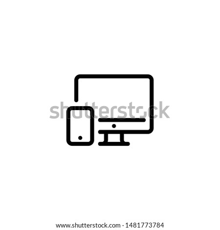 Devices icon. Device Icons vector illustration of responsive design for presentation. vector illustration