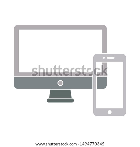 devices icon. flat illustration of devices - vector icon. devices sign symbol