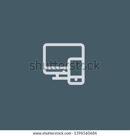 Devices vector icon. Devices concept stroke symbol design. Thin graphic elements vector illustration, outline pattern for your web site design, logo, UI. EPS 10.