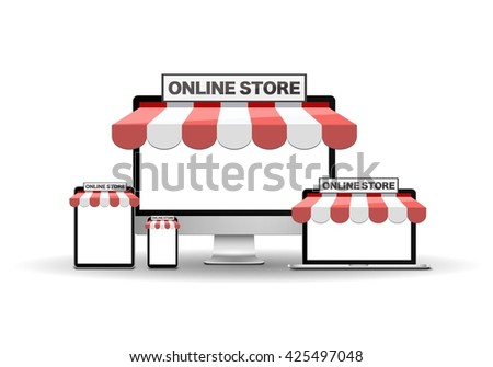 Devices with online store