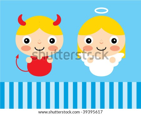 devil and angel card
