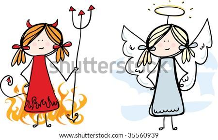 Devil and Angel loose sketch