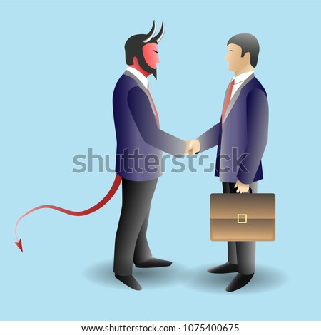 devil deal concept vector