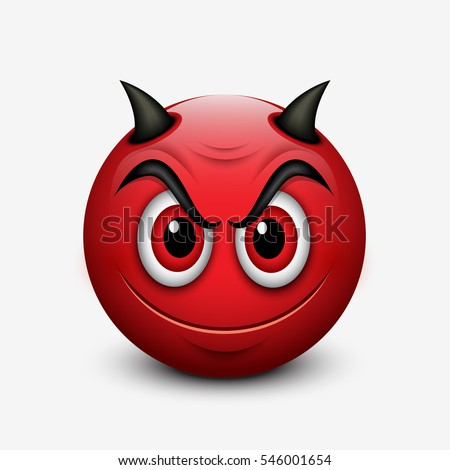 devil emoticon isolated on