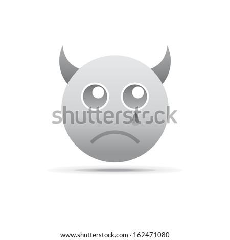 devil emotion icon face