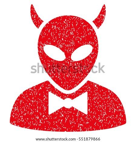 devil grainy textured icon for...