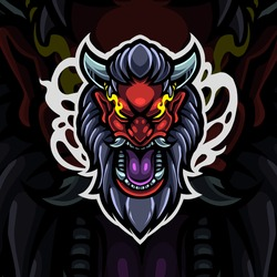 Devil head esport mascot logo