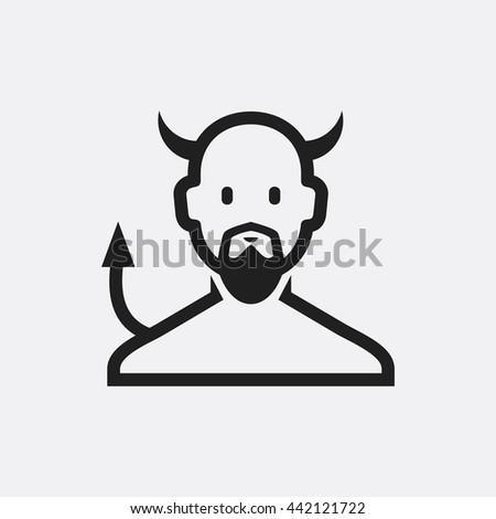 devil icon  devil icon eps10