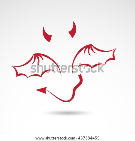 devil icon isolated on white