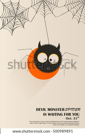 devil spider poster card design