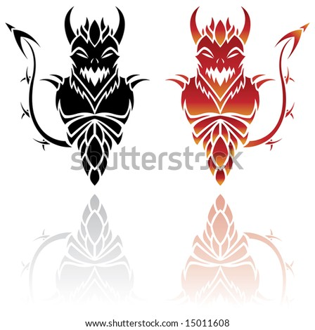 stock vector : Devil Tattoos