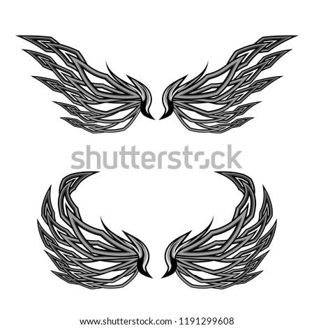devil wings vector illustration