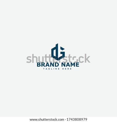 dg  gd letter logo design