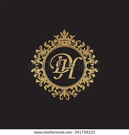 Dh Initial Luxury Ornament Monogram Logo Stock Vector Illustration ...