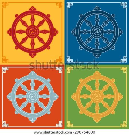 Dharma Wheel Dharmachakra Icons Buddhism Symbols Free Image