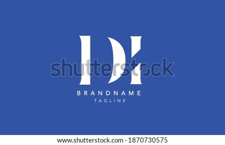 DI Alphabet initial Letter Monogram Icon Logo vector illustration Stok fotoğraf ©
