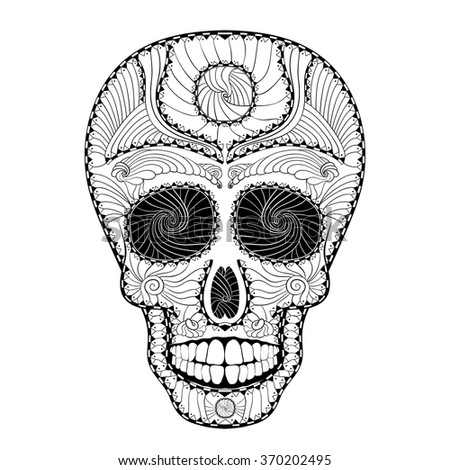 dia de muertos illustration of