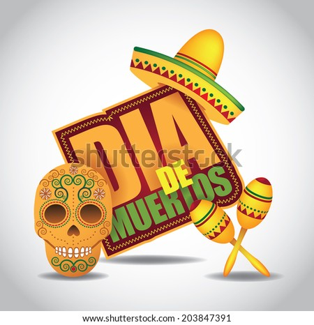 Dia de Muertos Mexican Day of the dead icon EPS 10 vector