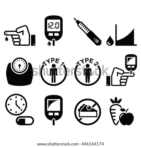 diabetes disease  health icons