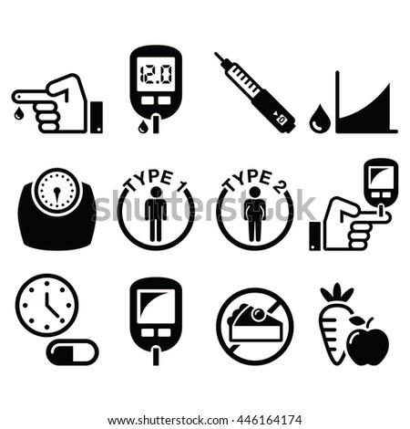 diabetes disease  health icons