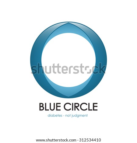 diabetes symbol, vector diabetes, blue circle, diabetes logo, Diabetes mellitus