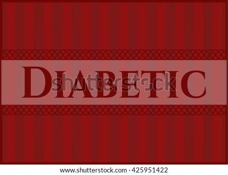 Diabetic banner or poster