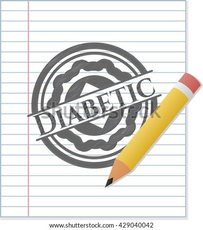 Diabetic pencil draw