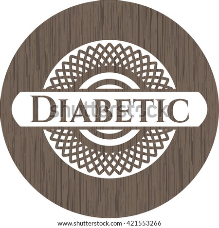Diabetic wood emblem. Retro