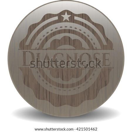 Diagnose wooden emblem