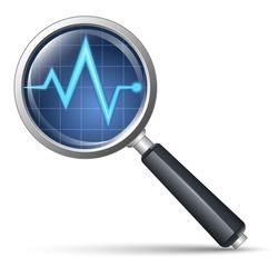 Diagnostics icon. Vector illustration
