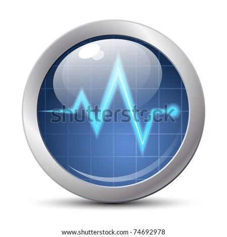 Diagnostics icon, vector illustration